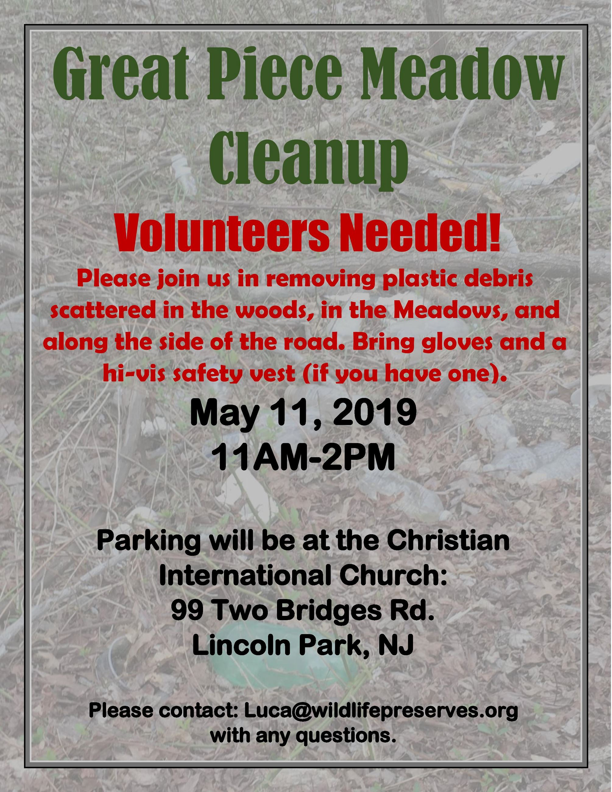 GPM Trash Clean-up Flyer