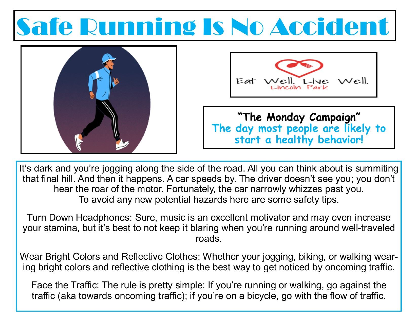 Healthy Monday11-18-19 Run Safely