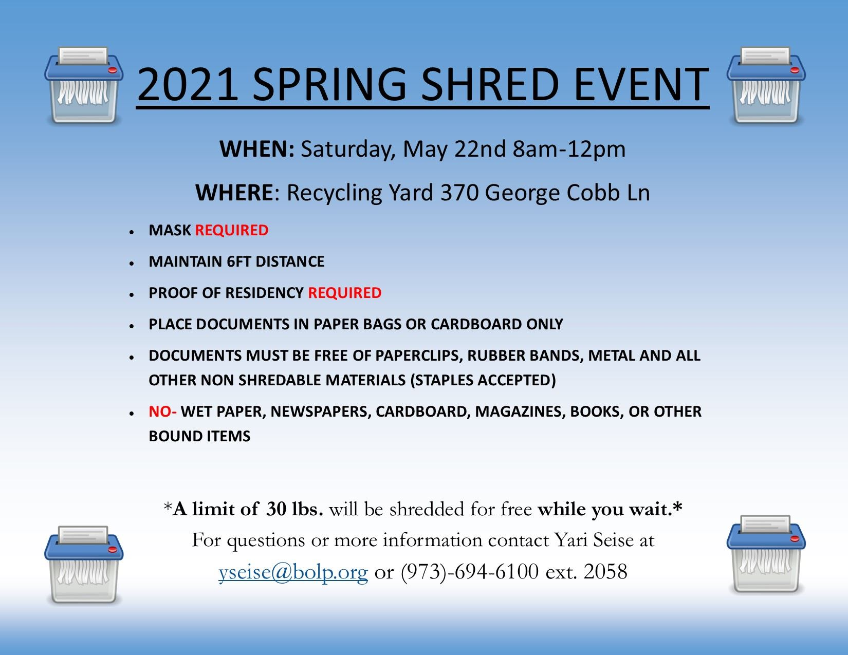 2021 SHRED IT FLYER